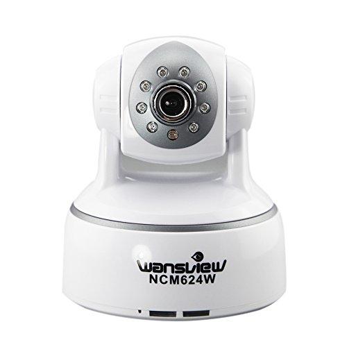 Wansview NCM-624W H.264 Mega Pixel Wlan IP Kamera Überwachungskamera mit IR Cut, Zwei-Weg-Audio, SD-Karte weiß