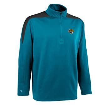 NFL Mens Jacksonville Jaguars 1 2 Zip Jersey Pullover by Antigua