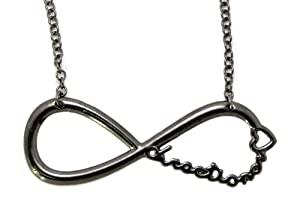"One Direction Infinite Directioner Pendant w/18"" Link Chain Necklace XC253 Hematite by NYfashion101, Inc."