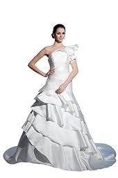 herafa w35379-10 Wedding Dress Elegant Boat Neck Sleeveless Lace Delicate Beading Long 0 Princess White