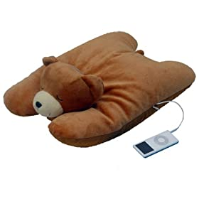 Plush Teddy Bear Squishy Pillow w/ MP3 iPod Speaker