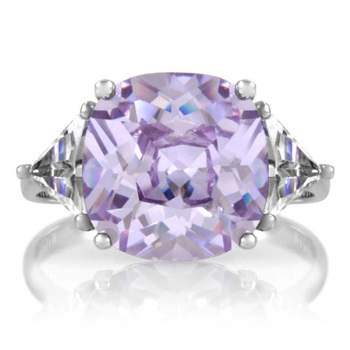 CZ Engagement Ring - Jennifer Lopez Inspired (Lavender CZ)