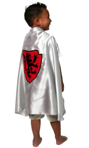 Boys Silver Knight Dragon Medieval Halloween Costume Dressup Cape