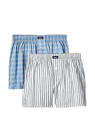 Abanderado Pack x 2 Bóxers (Azul / Blanco)