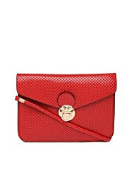 Toniq Classic Front Opening Red Sling Bag For Women