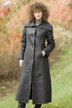 Buy Women's Long Reversible Shearling Coat