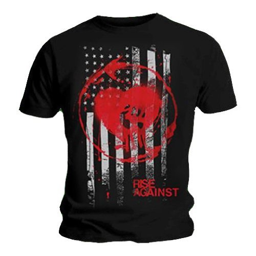 Official-T Shirt, motivo: RISE AGAINST, Heart Fist, motivo colorato con Logo, tutte le misure nero XX-Large