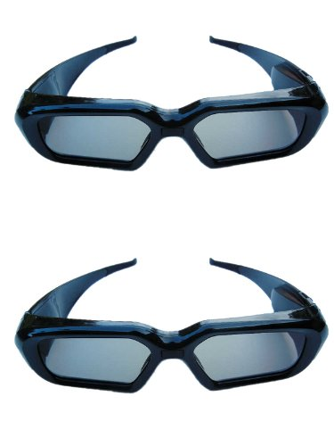 TWO Rechargeable Glasses compatible  most 3DTV's