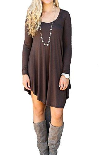 tomyork-womens-long-sleeve-casual-loose-t-shirt-dress-coffeexl