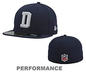 Dallas Cowboys Navy Blue D Cap 59Fifty Performance Fitted Hat by New Era