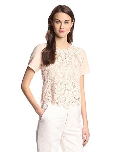 Aijek Women's Drifter Short Sleeve Lace Top