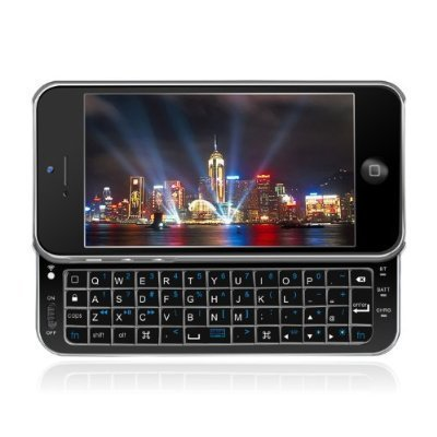 Yiking Keyboard Buddy Iphone 5 Case - Backlit Edition - Bluetooth Keyboard Case With Integrated Apple Commands And Backlit Keys For Apple Iphone 5 (Jet Black)