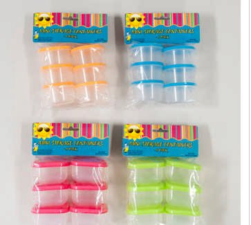 1 Pack of 6 Mini Baby Food Storage Containers Colors of Covers May Vary G41195s Vary - 1