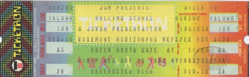Rolling Stones 1981 Unused Concert Ticket Chicago Rosemont Horizon 11/25/81 (Chicago Concert Tickets compare prices)