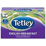 Tetley English Breakfast Tea Bags Drawstring in Envelope - Pack of 25 Tea Bags