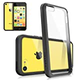 Rearth Ringke Case with Free Premium Screen Protector for Apple iPhone 5C (Black)