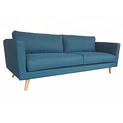 Canapé 3 places bleu Tenas