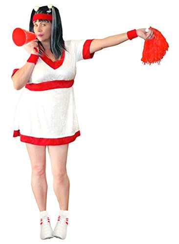 Women's Red Cheerleader Plus Size Supersize Halloween Costume Dress