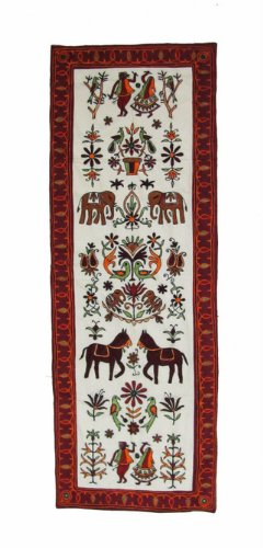 "Free Shipping New Wall Hanging Table Runner Hand Knitted Tapestry 56"" x 20"""