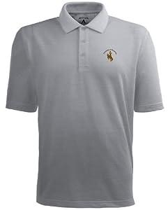 Wyoming Pique Xtra Lite Polo Shirt (Grey) by Antigua
