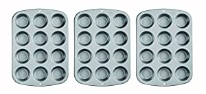 Wilton Recipe Right Nonstick 12-Cup Regular Muffin Pan (3, STANDARD)
