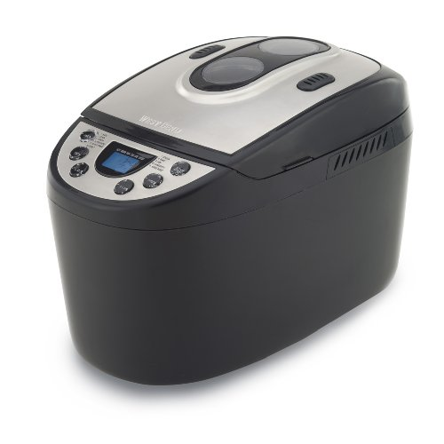 West Bend 41300 Hi-Rise Electronic Dual-Blade Breadmaker, Black