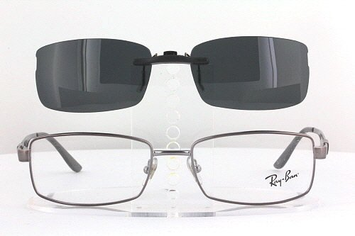 RAY-BAN RB6155-53X17 POLARIZED CLIP-ON SUNGLASSES (Frame NOT Included)