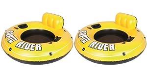 Buy Bestway Rapid Rider I 53 Inflatable Floating Pool Raft Tube (2-Pack)| 12604 by Bestway