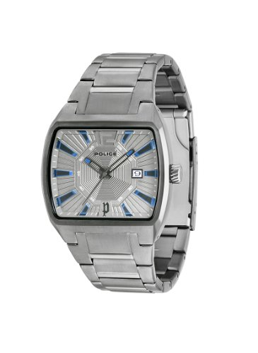 Police District Men's Quartz Watch with Grey Dial Analogue Display and Grey Stainless Steel Bracelet 13407JSU/61M