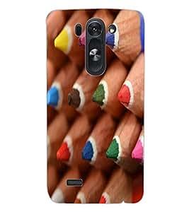 ColourCraft Colour Pencil Design Back Case Cover for LG G3 S
