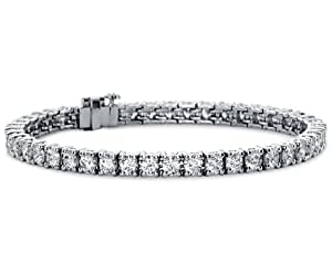 7.00ct TTW Lady's Round Cut Diamond Tennis Bracellet in 14 Kt White Gold