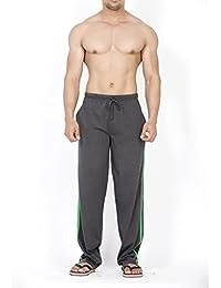 Clifton Men's Classical Striper Track Pant - Charcoal/Deep Green
