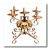 Blonde Designs Happy and Haunted Halloween - Halloween Skull Triple Candelabra - 8x8 Iron on Heat Transfer for White Material (ht_131350_1)
