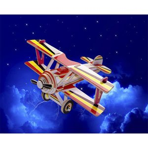 Puzzled Nieuport 17 Colorful Wood Craft Construction 3D Jigsaw Puzzle