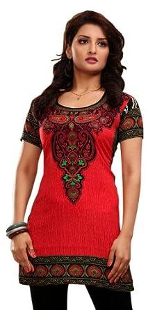 c7bd05c4ffa Indian Tunic Top Womens Kurti Printed Blouse India Clothing