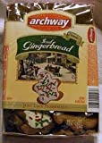 Archway Iced Gingerbread Holiday Cookies 6 Pack 6 Oz Trays