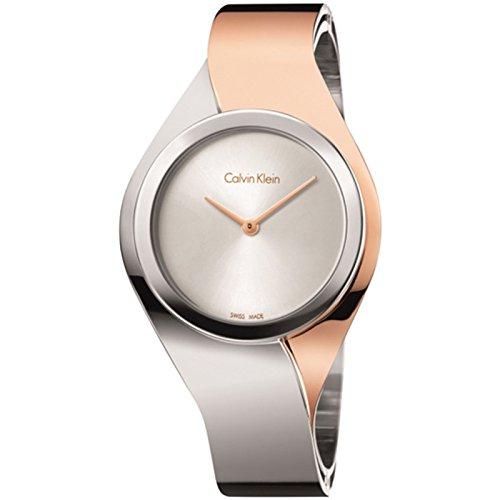 Women's Two-Tone Calvin Klein ck Senses Dress Watch K5N2S1Z6 Calvin Klein Dress Watch