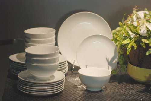 24pc White Pure Dinner Set