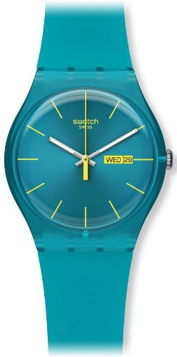 Swatch Men's SUOL700 Quartz Turquoise Dial Measures Seconds Plastic Watch