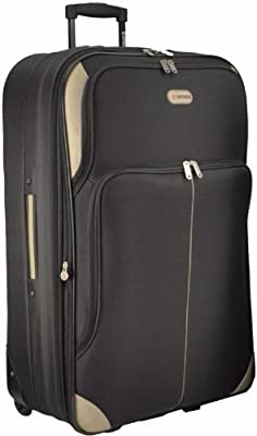 Large 29'' Super Lightweight Expandable Luggage Suitcase (Choc)