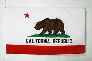 AZ FLAG - DRAPEAU CALIFORNIE 150x90cm - DRAPEAU AMÉRICAIN 90 x 150 cm - Neuf