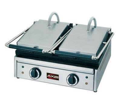 Axis Equipment Ax-Pd Stainless Steel Panini Toaster, 220V Voltage, 122 -572 Degree F Temperature Range, Double Grill