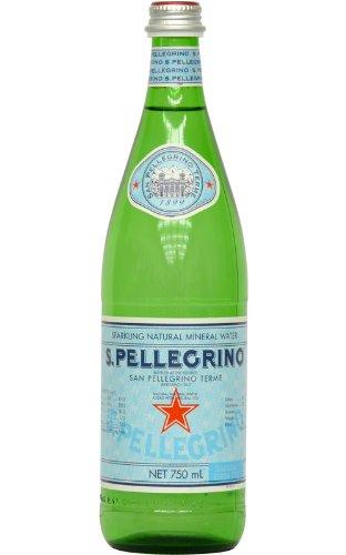*692 サン ペレグリノ ナチュラル ミネラル ウォーター 〔天然炭酸入り〕 瓶 750ml×12本 1ケース