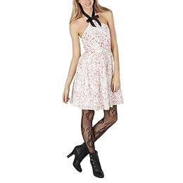 Juniors Lace Halter Dress