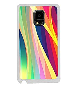 Colourful Waves Pattern 2D Hard Polycarbonate Designer Back Case Cover for Samsung Galaxy Note Edge :: Samsung Galaxy Note Edge N915FY N915A N915T N915K/N915L/N915S N915G N915D