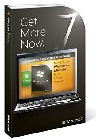 Windows Anytime Upgrade Windows Home Prem to Ult 7 English Upgrade