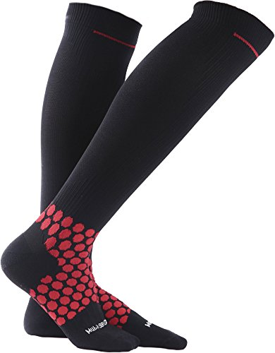 Compression Socks 20-30 mmhg for Flight, Maternity, Athletics, Travel, Nurses - Medical Care Grade for Shin Splints, Calf and Leg Pain - Running Socks for Women & Men