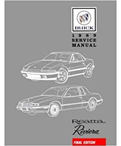 1989 Buick Reatta Riveria Shop Service Repair Book Manual Engine Electrical OEM
