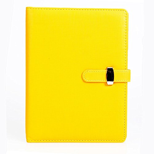 Great Value Desk Accessories Fashionable A5 88 Sheets Loose Leaf Notebook Notepad Address Book Yellow
