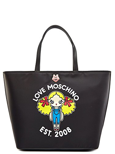 LOVE MOSCHINO TASCHE DAMEN JC4259PP01 SCHWARZ BLACK WOMEN SHOPPER BAG, Größe:ONE SIZE thumbnail